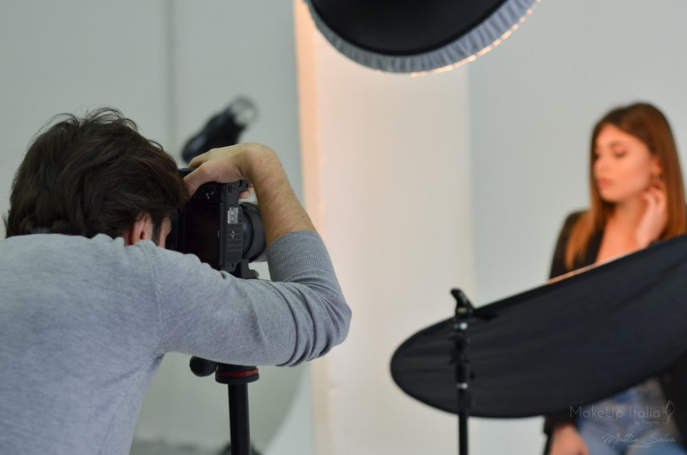 Backstage shooting beauty Pragma- Makeup italia